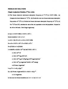 PROBLEM SET SOLUTIONS Chapter 6, Quantum Chemistry, 5th Ed ...