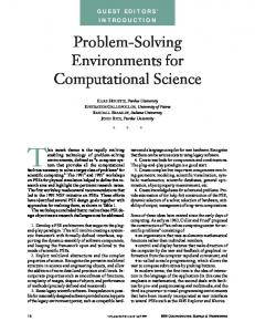 Problem-Solving Environments for Computational Science
