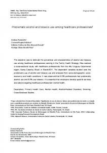 Problematic alcohol and tobacco use among healthcare ... - PePSIC