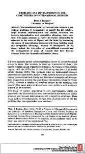 PROBLEMS AND DEVELOPMENTS IN THE CORE ... - SSRN papers