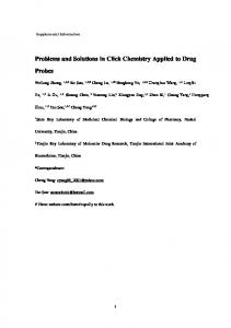 Problems and Solutions in Click Chemistry Applied to ...