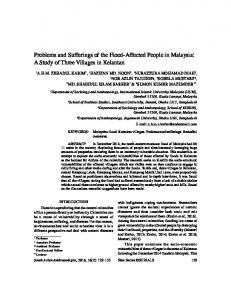 Problems and Sufferings of the Flood-Affected People in Malaysia