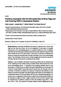 Problems Associated with the Microchip Data of Stray Dogs ... - MDPI
