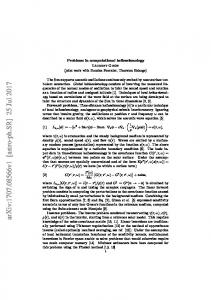 Problems in computational helioseismology