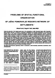 problems of spatial-functional organization of