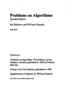 Survey of Mathematical Problems - Texas A&M University