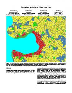 Procedural Modeling of Urban Land Use - Center for Connected ...