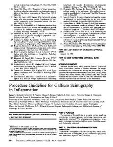 Procedure Guideline for Gallium Scintigraphy in Inflammation