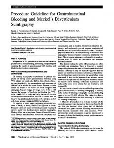 Procedure Guideline for Gastrointestinal Bleeding and Meckel's