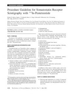 Procedure Guideline for Somatostatin Receptor Scintigraphy with ...