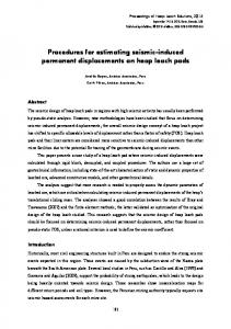 Procedures for estimating seismic-induced permanent ... - Anddes