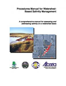 Procedures Manual for Watershed-Based Salinity Management