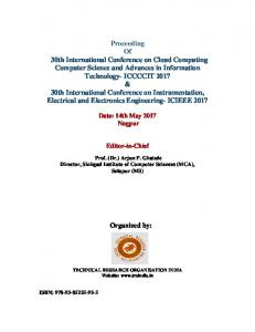 Proceeding Of 30th International Conference on