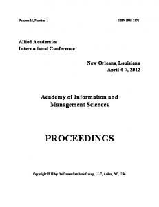 proceedings - Allied Business Academies