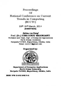Proceedings Of National Conference on Current