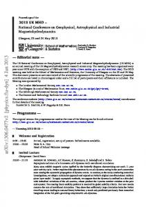 Proceedings of the 2013 UK National Conference on Geophysical ...