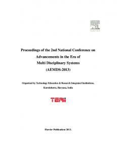 Proceedings of the 2nd National Conference on ...