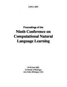 Proceedings of the 9th Conference on Computational