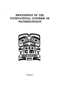 proceedings of the international congress of ...