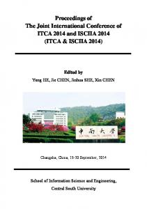 Proceedings of The Joint International Conference of