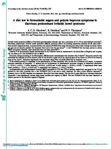 Proceedings of the Nutrition Society A diet low in ...
