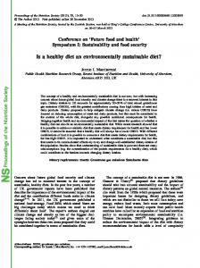 Proceedings of the Nutrition Society Is a healthy diet an ...