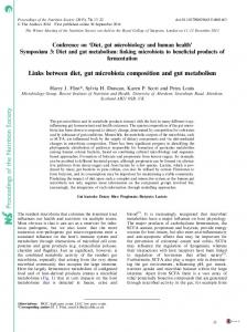 Proceedings of the Nutrition Society Links between