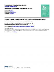 Proceedings of the Nutrition Society Visceral obesity ...