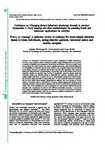 Proceedings of the Nutrition Society Worry or craving? A selective ...