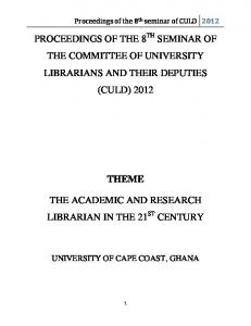Proceedings of the seminar of CULD