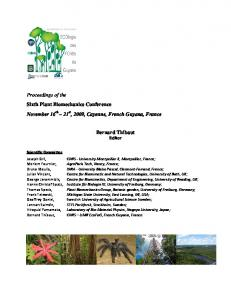 Proceedings of the Sixth Plant Biomechanics ...