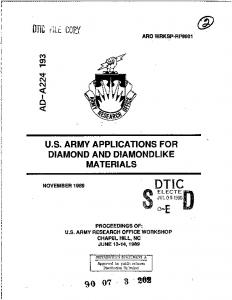 Proceedings of US Army Research Office Workshop on US Army ...
