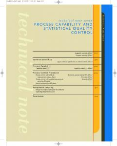 process capability and statistical quality control - Ateneonline