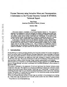 Process Discovery using Inductive Miner and Decomposition