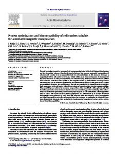 Process optimization and biocompatibility of cell carriers suitable for ...