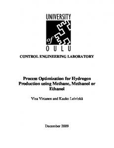 Process Optimization for Hydrogen Production using