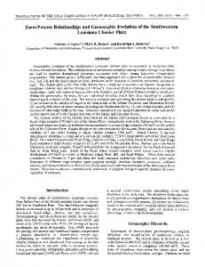 Process Relationships and Geomorphic