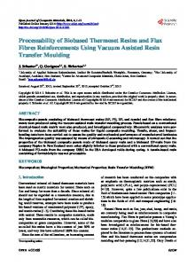 Processability of Biobased Thermoset Resins and Flax Fibres ...