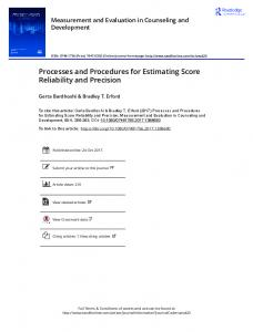 Processes and Procedures for Estimating Score ...