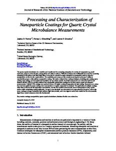 Processing and Characterization of Nanoparticle Coatings for Quartz