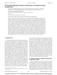 Processing dependent thermal conductivity of nanoporous silica ...