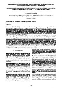 processing of uav based range imaging data to ... - ISPRS Archives