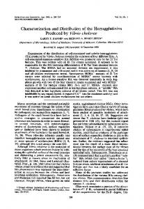 Produced by Vibrio cholerae - Infection and Immunity