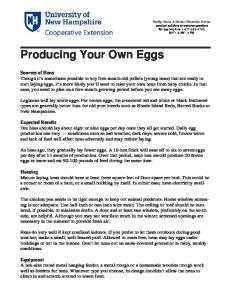 Producing Your Own Eggs - Cooperative Extension