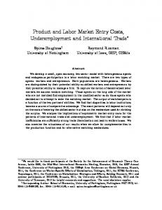 Product and Labor Market Entry Costs ... - University of Iowa