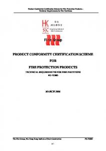 product conformity certification scheme for fire protection products ...