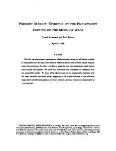 Product Market Evidence on the Employment Effects