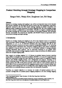 Product Matching through Ontology Mapping in ... - Semantic Scholar