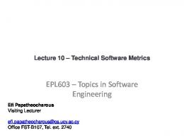 Product Metrics for Software