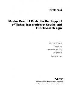 Product Model to support generative analysis (analysis driven design